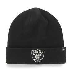 first rate f0df7 d9c70 Oakland Raiders Recluse Cuff Knit Black 47 Brand Hat
