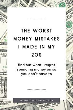 I've had my fair share of terrible purchases that I regret in my 20's. Learn from me about what not to buy and my dumbest purchases in order to save more money and get out of debt. Millennial money advice for what not to buy in your 20s and what I wish I would have spent my money on instead. Use this to avoid buyer's remorse. Learn hacks for buying a car and what not to buy in your 20's. #moneymanagement #budgeting101 #worstmpurchases #collegebudget