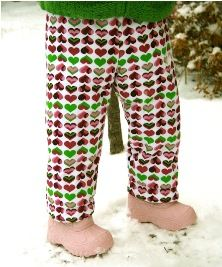 How to make a pair of insulated snow pants, perfect for keeping a child warm and dry during their hours of snow play.