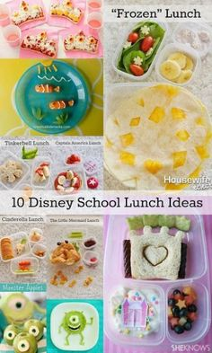 Housewife Eclectic: Disney Inspired Lunches and preparation for Back to School. Use these lunch ideas and recipes to back back to school more fun for your kids!