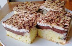 Puha csokipudingos-tejfölös szelet egy kis extrával | TopReceptek.hu