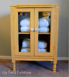 Super Ideas For Linen Storage Cabinet Annie Sloan Furniture, Linen Storage, Redo Furniture, Painted Furniture, Yellow Cabinets, Repurposed Furniture, Linen Storage Cabinet, Furniture Inspiration, Stereo Cabinet