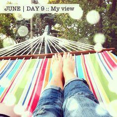 Relaaaxing.. for like 5 minutes ;) - hammock from @PotteryBarn ♥ #makelifecute #latergram #photoadayjune - @makelifecute- #webstagram #instagram