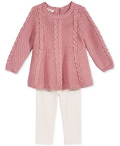 First Impressions 2-Pc. Sweater Tunic & Leggings Set, Baby Girls (0-24 months), Created for Macy's