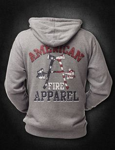 Perfect for fall, winter, spring, or even those summer nights that cool off more than most people expect. Be prepared with our gun metal grey hoodie. Military Style Shirts, Police Outfit, Firefighter Apparel, American Firefighter, American Pride, Modern Outfits, Grey Hoodie, Apparel Design, Military Fashion
