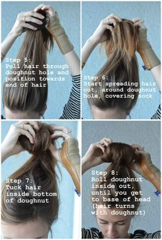 sock bun tutorial-for when my hair gets longer.