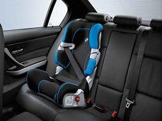 Bmw #genuine baby/child/kid #safety #junior car seat black/blue ii ...