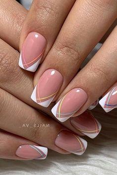 French Manicure Nail Designs, Acrylic Nail Designs, Pedicure Nail Designs, Chic Nails, Stylish Nails, Pink Nails, Gel Nails, Nagel Hacks, Nails Today