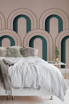 Add a touch of elegance and Art Deco in your bedroom. Wall Murals, Luxury, Inspirational Wallpapers, Interior Design, Home Decor, Modern Design, Luxury Homes, Deco, Luxury Interior Design