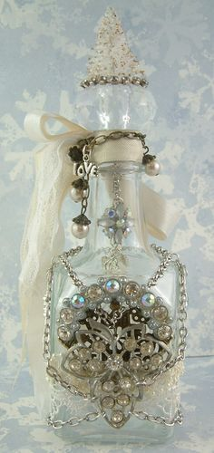 Artfully Musing: Altered Bottle from Melanie Hall