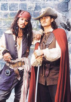 Captain Jack Sparrow / Johnny Depp & Will Turner / Orlando Bloom - Pirates of the Caribbean - the Curse of the Black Pearl Will Turner, Caribbean Jacks, Pirates Of The Caribbean, Captain Jack Sparrow, Jack Sparrow Beard, Jack Sparrow Savvy, Sparrow Pictures, Orlando Bloom Legolas, Charles Vane