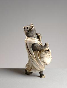 """museeguimet: """" Renard Ivoire Japon, époque Edo © Raphaël Chipault et Benjamin…"""