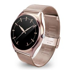 DOY US03 Smart Watch WristWatch 1.22 Inch IPS with Heart Rate Monitor/Remote Camera /Pedometer for IOS and Android Smartphones Gold Steel Watchband. Stylish, the ultimate slim, stylish and sophisticated design watches for men and women; leather strap, steel skin, the thickness of the whole, the industry's first 9.8mm. The high-definition display, G + FF sensitive capacitive touch screen, screen processing water droplets, exquisite and beautiful; precision full lamination technology...