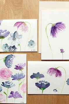 Step-by-Step Watercolor Florals | 18 Easy DIY Art Projects You Can Make With Watercolors - decor ideas
