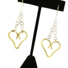 Lovely handcrafted heart #earrings by Phoenix artist Christine Porter! #heart #ValentinesDay #LOVE