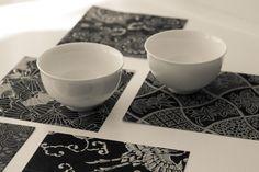 The Tea Squirrel Tea cups and origami paper