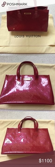 Red Patent Louis Vuitton Authentic Red Patent Leather Louis Vuitton. Never worn. Excellent condition. Comes with dust bag. Make an offer! :) Louis Vuitton Bags