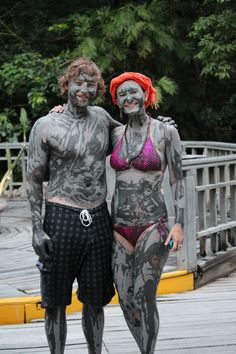 Volcanic mud baths in Costa Rica. The Blue Zones of the World.