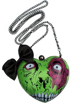 Bolso duro con forma de corazón zombie Iron Fist
