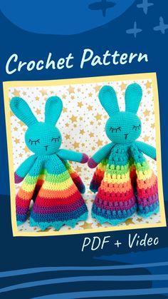 Crochet Lovey, Crochet Rabbit, Crochet Mouse, Handmade Ideas, Handmade Toys, Etsy Handmade, Crochet Toys Patterns, Amigurumi Patterns, Crochet Decrease