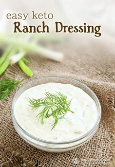 Easy Keto Ranch Dressing… Ingredients (makes ~ 1 ¼ cup, servings): . ¼ c sour cream… ¼ c heavy whipping cream… ½ c mayonnaise… 2 med s. Keto Foods, Ketogenic Recipes, Diet Recipes, Healthy Recipes, Recipes Dinner, Pescatarian Recipes, Easy Recipes, Dinner Ideas, Keto Sauces