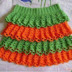 Crochet Skirt Pattern, Crochet Skirts, Crochet Clothes, Crochet Hot Pads, Crochet Socks, Baby Skirt, Baby Dress, Knitting Patterns Free, Crochet Patterns