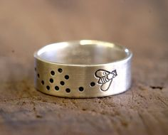 Sterling Silver Bumblebee Ring bumble bee by monkeysalwayslook, $42.00