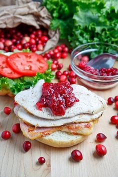 Roast Turkey Sandwich with Cranberry Sauce