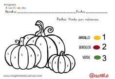 Coloreamos por números con motivos de otoño (10)