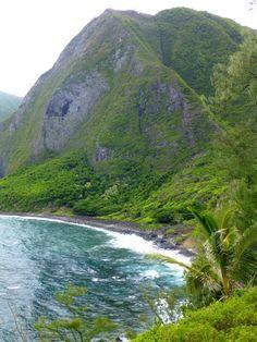 Molokai's sea cliffs in Kalawao