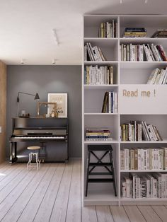 bibliotheque-blanche-deco-grise