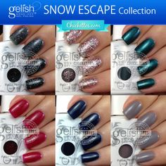Gelish Snow Escape Collection (Winter 2013) Swatches & Review