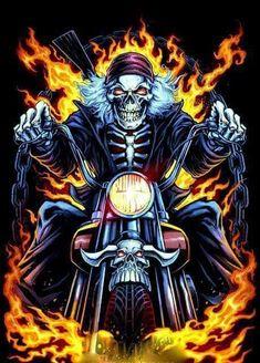 21 Ideas skeleton motorcycle tattoo grim reaper for 2019 Harley Davidson Kunst, Harley Davidson Wallpaper, Harley Davidson Logo, Harley Davidson Motorcycles, Motorcycle Tattoos, Motorcycle Art, Bike Art, Aztecas Art, David Mann Art