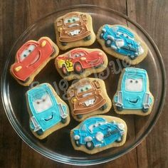 Cars lightning McQueen cookies