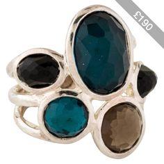 Pre-owned Ippolita Wonderland 5-Stone Ring