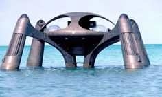 The submersible hideout in The Spy Who Loved Me