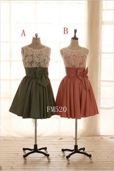 Custom Lace Taffeta Wedding Dress Bridesmaid Dress Prom by FM520, $89.00