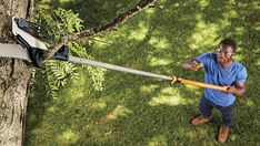 Simplify tough, high cuts with the Extendable Pole Saw & Pruner, which includes two different cutting options and extends up to 12 feet. A unique double locking system ensures the. Chainsaw Reviews, Pole Bending, Best Router, Telescopic Pole, Tool Store, Power Hand Tools, Woodworking Books, High Carbon Steel, Manual