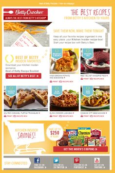 Best of Betty - Insider Favorites Recipe Email