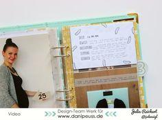 Materialpaket für ein Schwangerschaftstagebuch von www.danipeuss.de #babywoche