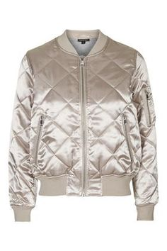 Shiny Quilted Bomber
