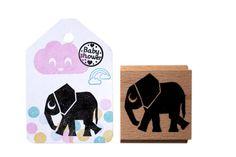 Elephant stamp by MissHoneyBird on Etsy