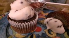 Chocolate Chocolate chip cupcakes & chocolate chip frosting. Recipe!