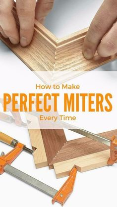Cool Woodworking Tips - Perfect Miters Everytime - Easy Woodworking Ideas… #woodworkingtips  #WoodworkPlans
