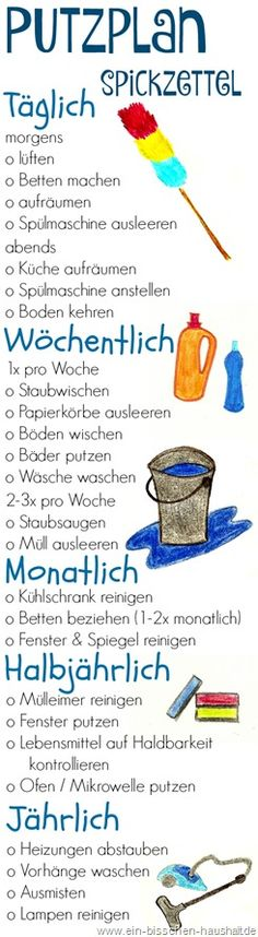 Putzplan_Spickzettel Putzplan_Spickzettel The post Putzplan_Spickzettel appeared first on Wohnung ideen. Wallpaper World, Life Hacks, Genius Ideas, Home Organisation, House Doctor, My New Room, Diys Room Decor, Filofax, Better Life