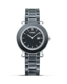 Fendi Round Ceramic Stainless Steel Watch with Diamonds, 38mm | Bloomingdales's
