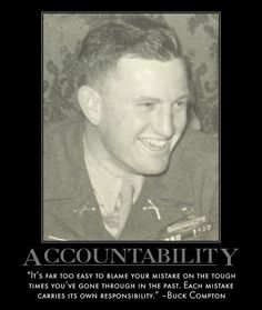 Motivational Posters: Band of Brothers on Accountability
