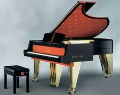 The Austrian star architect Hans Hollein created this Bösendorfer piano in the Painted Pianos, Art Deco Bedroom, All About Music, Grand Piano, Music Images, Spotify Playlist, Art Music, Musical Instruments, We Heart It