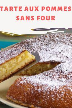 Vous avez bien lu ceci est une tarte aux pommes sans four. Mais cuite à la poêle? Oui j'ai cuit ma tarte à la poêle à frire mais jamais je ne m'attendais à manger une tarte aux pommes si bonne. Je vais certainement la refaire! Biscuits, Croissants, Quiches, Flan, Camping, Cooker Recipes, Crack Crackers, Pudding, Campsite