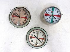 Salvaged Radio Room Ships Clock By MRC from Scaramanga's unique & original vintage furniture collection. Antiques For Sale, Vintage Antiques, Industrial Furniture, Vintage Furniture, Ships Clock, Money Jars, Salvaged Doors, Radio Alarm Clock, Vintage Windows